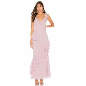 lavender maxi dress, perfect for formals or prom!